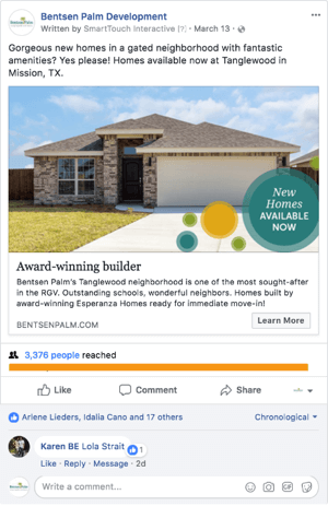 Facebook Real Estate Marketing Sponsored Ad
