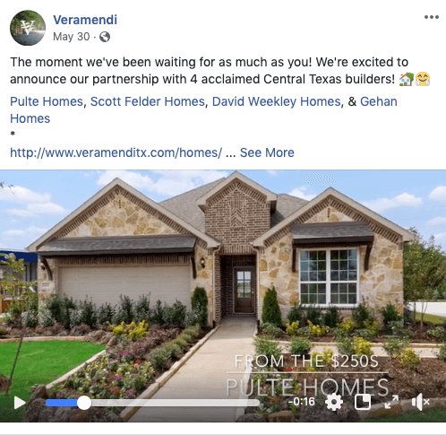 Home Builder Facebook Post Ideas - video slideshows