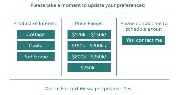 best home builder marketing emails one click preferences