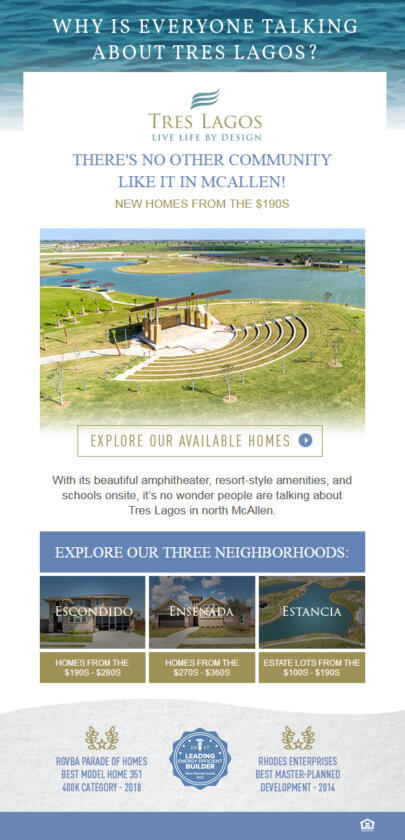 best home builder marketing emails short and sweet