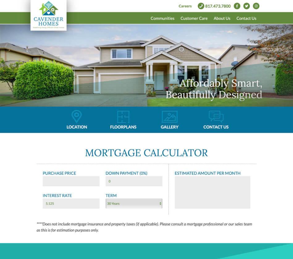website mortgage calculator 2
