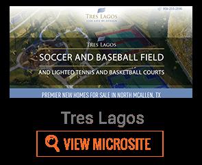 Tres Lagos microsite example