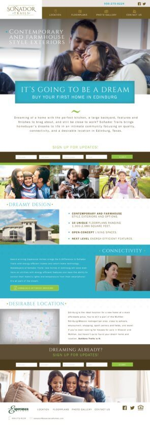 real estate website home page