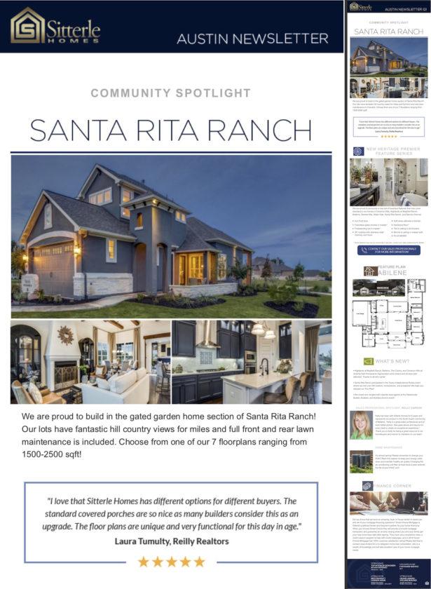 home builder newsletter