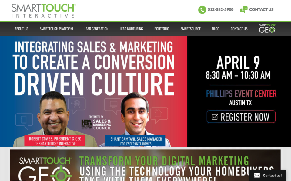 SmartTouch homepage 4 2019