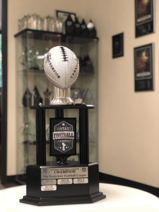SmartTouch Fantasy Football Draft Trophy