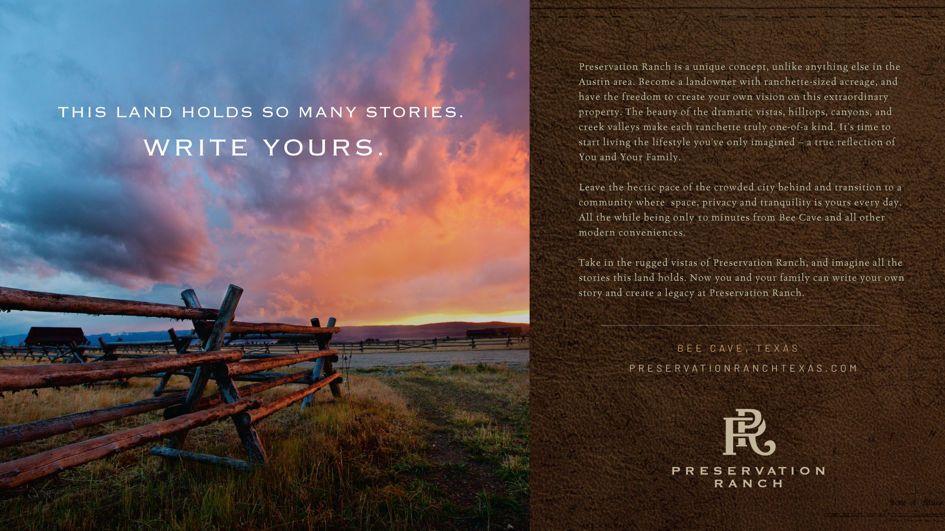 Preservation Ranch Write Your Story