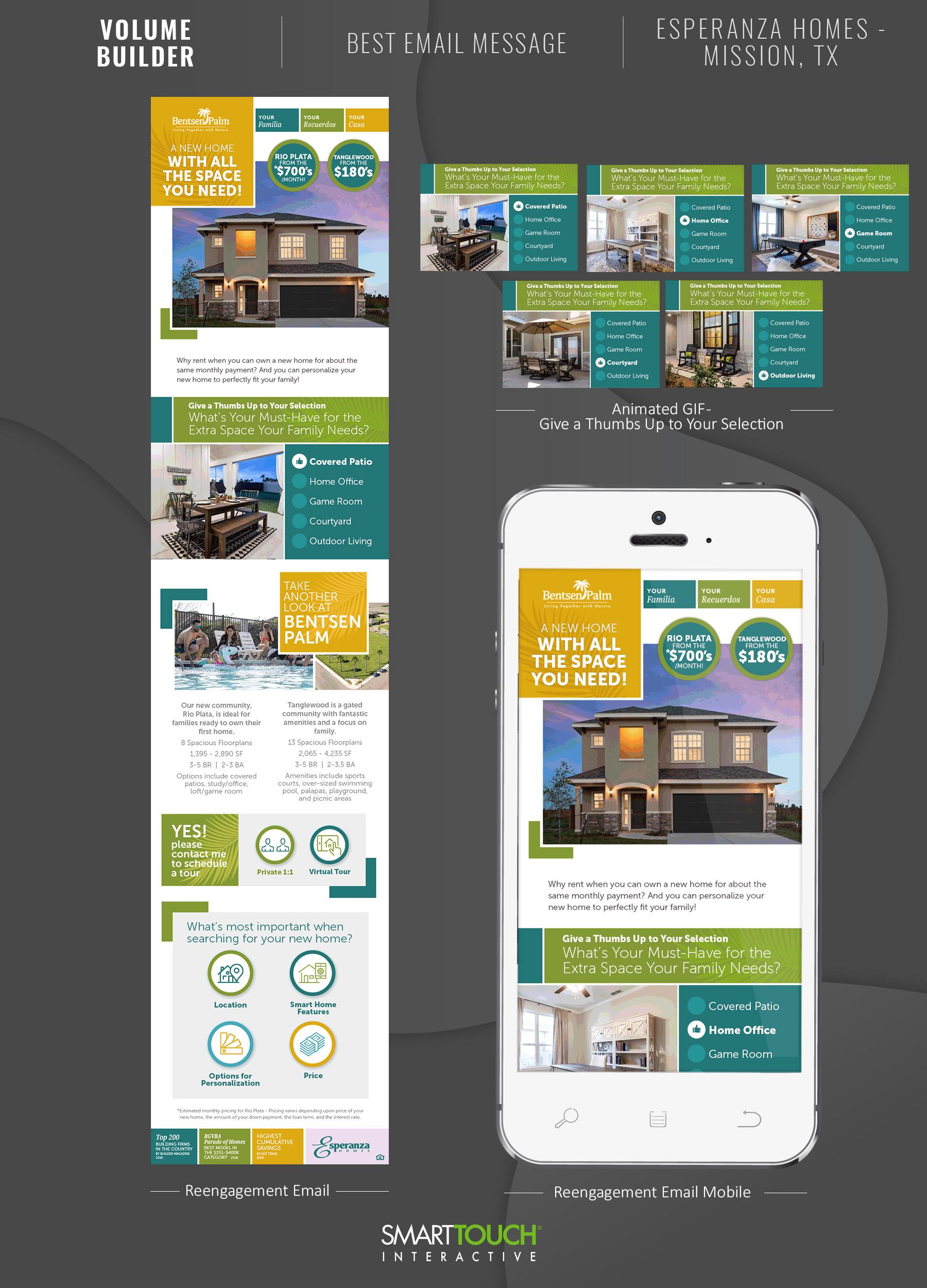 Builder - Best Email Message - Esperanza Homes