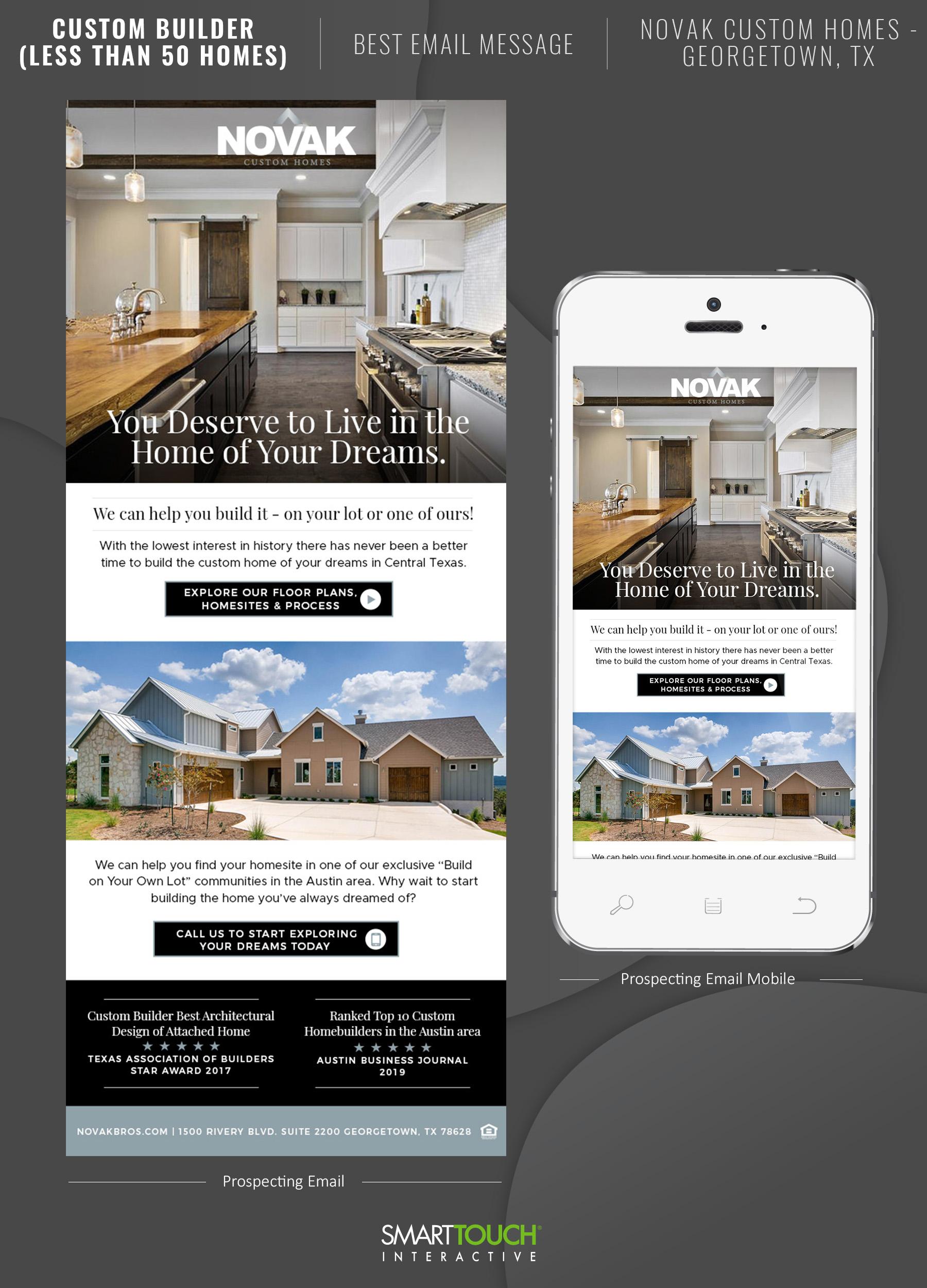 Best Email Message - Novak Custom Homes Georgetown TX