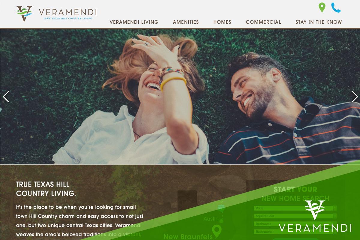 Preview of Veramendi's Website Homepage