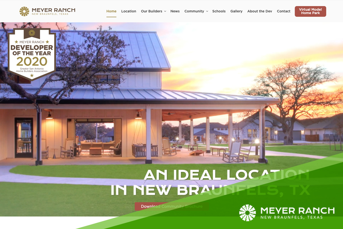 Preview of Meyer Ranch's Website Homepage
